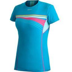 Craft Cool Tee With Mesh Hardloopshirt dames blauw/roze