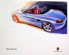 Boxster 986 - Porsche brochure sketch