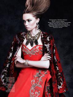 Puck Loomans by Stockton Johnson for Elle Vietnam November 2014`Oscar de la Renta