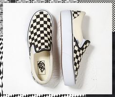 cc2d83224bcafa Get to new heights with the Checkerboard Slip-On Platform. Sneaker Heels