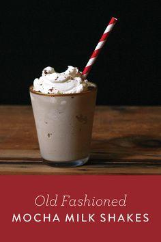 Old Fashion Mocha Milk Shakes. Get the recipe.