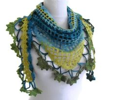 crochet flower scarfhandknittedfashionunique gifts by likeknitting, $33.99