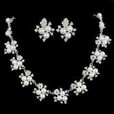 Aliexpress.com : Buy Hot  Luxury Princess Pearl  Wedding Jewelry Sets Crystal…