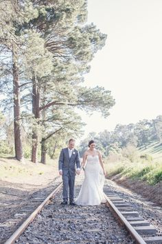 The train line at the end of Donovans Road, only a 30 second drive from the Healesville Country Club  Suzanne_Adam_Modern-Rustic-Wedding_SBS_016
