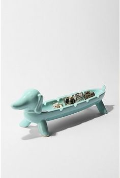 Weiner dog jewlery holder/ash tray/whever you'd like him to hold tray. $16.00 #urbanoutfitters.com