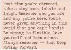 Secret mantra to beat stress