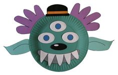 Paper Plate Halloween Mask