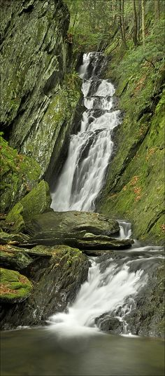 Tannery Falls, Savoy State Forest, Massachusetts; photo by Patrick Zephyr