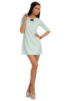 Tunika w kształcie trapezu Cold Shoulder Dress, Dresses For Work, Google, Fashion, Tunic, Moda, Fashion Styles, Fashion Illustrations