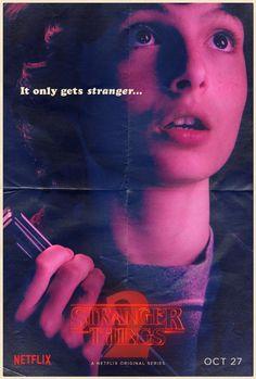 """""""STRANGER THINGS 2"""" Netflix ha lanzado un conjunto de carteles de sus protagonistas para Stranger Things 2."""