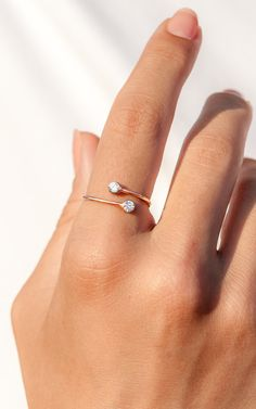 Personalized Ring Rose Gold Ring Promise Ring by eleajewelry