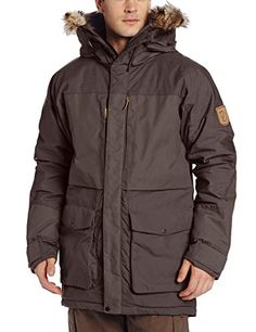 Fjallraven Mens Barents Parka Dark Grey Large >>> Details can be found by clicking on the image.