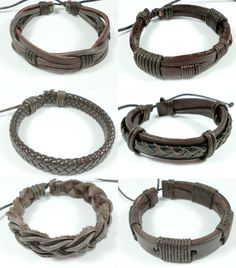 Surfer style Leather bracelets great accessory for your summer wardrobe
