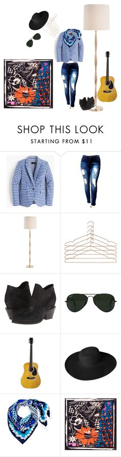 """""""Rockstar casual style"""" by maris-lember on Polyvore featuring J.Crew, Arteriors, HAY, Ash, Ray-Ban, Dorfman Pacific, Diane Von Furstenberg and musicians"""