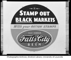 World War II poster for Falls City Beer, Louisville, Ky., 1943