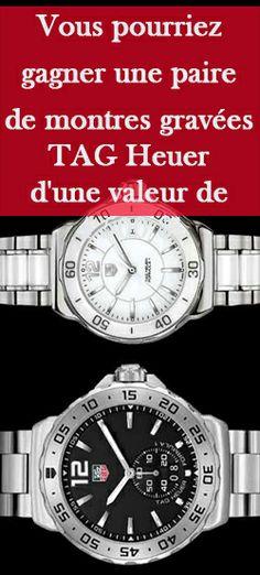Gagnez deux montres gravées TAG Heuer Site Web, Tag Heuer, Breitling, Watches, Pageants, Wristwatches, Clock