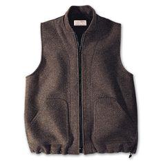 www.Filson.com | Filson Mackinaw Wool Zip in Vest Liner - Our heavyweight wear alone or zip-in vest liner  #vest #winter #clothing