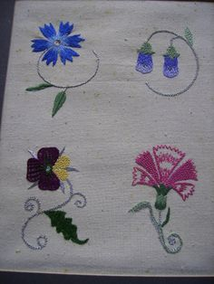 Elizabethan Flowers worked in old stitches 001