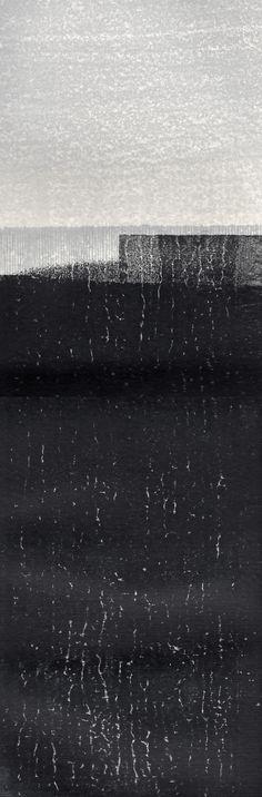"annsymes: ""Ann Symes - Earth - monoprint over Japanese woodblock print "" Gravure, Woodblock Print, Graphic Art, Contemporary Art, Abstract Art, Art Prints, Adventure, Artwork, Printmaking Ideas"