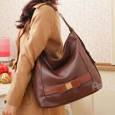PG Beauty Bow-Accent Hobo Bag PRICE  $38.00      #handbag #fashion #accessories