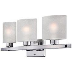 """Possini Euro Design 23 1/2"""" Wide Linen Glass Bath Light"""