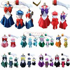 Pretty Soldier Sailor Moon Cosplay Costume for Adults Kids Baby Halloween Party