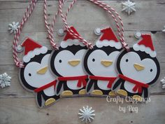 Christmas Gift Tags Penguin Gift Tags by CraftyClippingsbyPeg