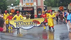 See the Rainy Day Parade at Magic Kingdom