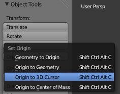 Set Origin / Center of Mass