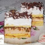 Alexander sütemény Hungarian Cake, Hungarian Recipes, Cake Bars, Sweet And Salty, Tiramisu, Tart, Cake Recipes, Food And Drink, Pie