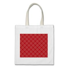 Pretty Red White Stripes Plaid Pattern Gifts Tote Bags  #SOLD on #Zazzle