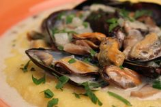 Mussels with Cream and Chives on Soft Polenta  | Jacques Pepin – Heart and Soul | KQED Food | from #JPHeartandSoul