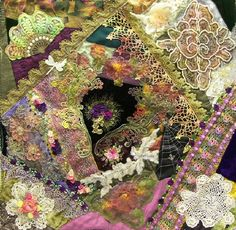 I ❤ crazy quilting & ribbon embroidery . . . srecq 011 completed ~By DebiDesigns
