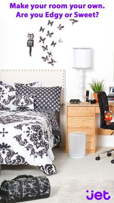 Live your best (dorm) life with this edgy look.