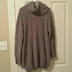 Warm Gray Sweater Dress