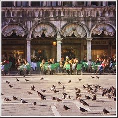 Cafe Florian, Piazza San Marco, Venice, Italy. The finest coffee shop ever in existence.