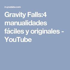 Gravity Falls:4 manualidades fáciles y originales - YouTube