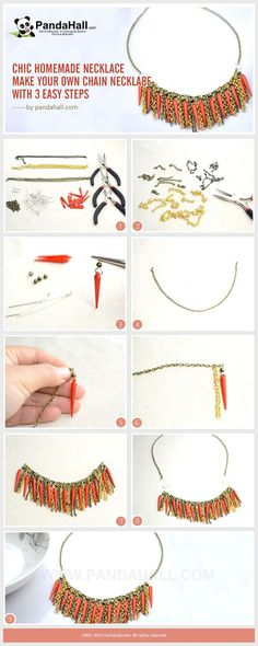 Chic Homemade Necklace – Make Your Own Chain Necklace with 3 Easy Steps from pandahall.com