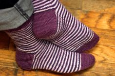 Grumperina goes to local yarn shops and Home Depot: Helical stripe socks, in 8 simple steps