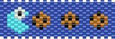 Cookie Monster bead pattern