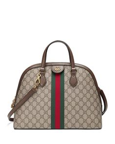 01dacbb3df89 Ophidia Medium Web GG Supreme Top-Handle Bag Gucci Baby, Gucci Handbags,  Leather
