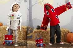 astronaut and airplane Halloween costumes for kids