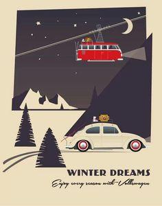 (¯`'•.ೋAbsolutely love this!!! 3 of my favourite things in one.... Vw beetle, camper and the mountains!
