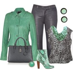 Mint and Grey for Fall, created by striplingmom-1 on Polyvore
