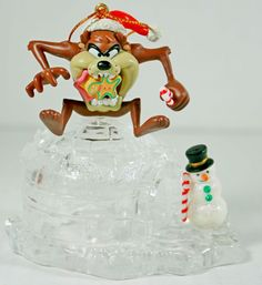 Looney Tunes Taz Tasmanian Devil The Magic of Crystal Christmas Ornament Matrix #Matrix