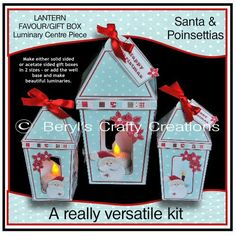 Beryl's Crafty Creations is offline Craft Projects, Projects To Try, Centre Pieces, Poinsettia, Fun Crafts, Lanterns, Santa, Make It Yourself, Crafty