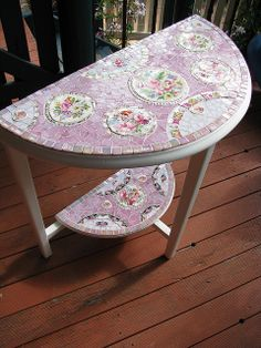 Shabby roses table - Finished | Flickr - Photo Sharing!