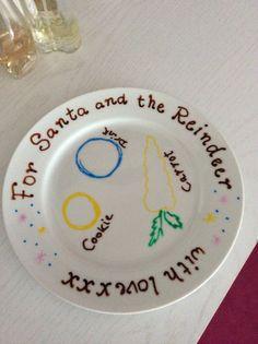 Xmas Eve hand written plate