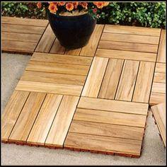 Teak Deck Tiles – contemporary – outdoor products – Gardener's Supply Company Source by mengtingshieh Concrete Patios, Cement Patio, Concrete Porch, Wood Patio, Outdoor Wood Tiles, Deck Tile, Outdoor Decking, Patio Tiles, Patio Chico