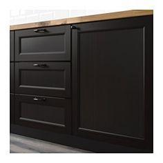 LAXARBY 2-p door/corner base cabinet set, black-brown - black-brown - IKEA